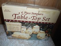 Royal Seasons Snowman 6 pc set!  Butter Dish, Salt & Pepper Shakers, Sugar Bowl, Creamer in Spring, Texas