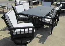 Black and White Outdoor Dining Set - Merchandise Mart Sample in Elgin, Illinois