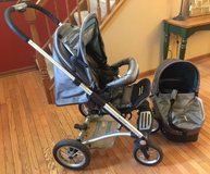 Mutsy stroller & bassinet 4rider cargo grey collection single seat baby in Naperville, Illinois