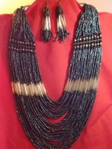 50 strand vintage necklace and matching earrings in Alamogordo, New Mexico