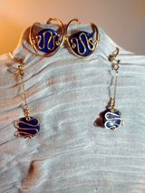 blue stone and gold earring cuffs with extensions in Alamogordo, New Mexico