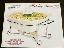 NEW COVERED CASSEROLE DISH WITH WARMING RACK in Oswego, Illinois