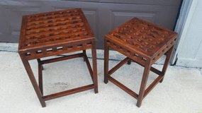 Set of 2 Unique Wooden Side Tables in Elgin, Illinois