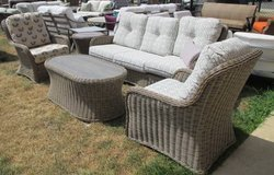 """""""Wicker""""Outdoor Sofa, 2 Chairs, Cocktail & Side Table in Schaumburg, Illinois"""