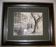 Pineapple Gates a Framed Print From a Pencil Drawing by Steve Jacobs 8 / 100 in Lockport, Illinois