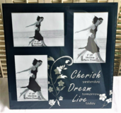 "Cherish Yesterday Dream Tomorrow Live Today Glass Picture Frame 12"" x 12"" in Naperville, Illinois"