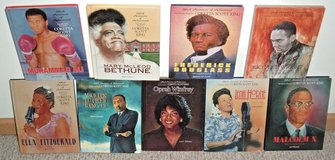 Lot of 9 Black Americans of Achievement Vintage 90s Hard Cover Books Luther Malcolm Oprah Ali in Joliet, Illinois