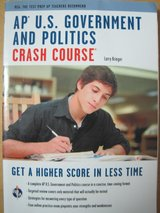 AP U. S. Government and Politics Crash Course paperback 2014 Larry Krieger in Kingwood, Texas