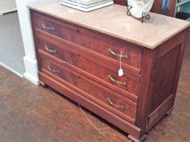 Walnut Dresser with Marble Top (Eatonton) in Macon, Georgia