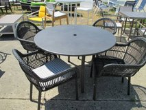 Merchandise Mart Floor Sample - Outdoor round table with 4 chairs in Elgin, Illinois