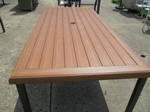 """Long """"Wood"""" Outdoor Dining Table in Elgin, Illinois"""