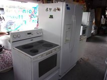 Maytag Water and Ice in Door Refrigerator and Glass Top Electric Stove in Fort Riley, Kansas