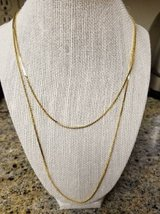 New dual chain gold plated necklace in Camp Pendleton, California