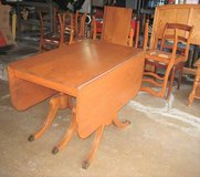 Vintage Antique 1940's Duncan Phyfe Style Table and 8 Chairs in Plainfield, Illinois