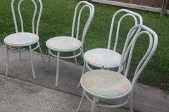 Four Bistro Chairs Reminds Me of Ice Cream Chairs in Spring, Texas