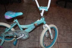 "16"" Girls Huffy Frozen Bycycle with Training Wheels in Kingwood, Texas"