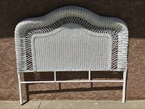 White Wicker Queen Size Headboard in Fairfield, California
