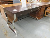 Modern Wood Finish and Chrome Desk in Elgin, Illinois