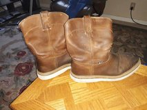 Size 12 Justin, Steel-Toe Leather Work Boots in Fairfield, California