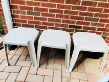 SET OF THREE PATIO/DECK TABLES in Chicago, Illinois