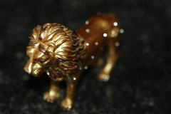 Gold Lion Trinket Box with Crystals in Houston, Texas