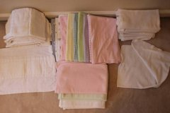 Huge lot of receiving blankets and burp cloths in Fairfax, Virginia