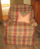 Flexsteel Plaid Fabric Accent Chair - Swivels and Rocks in Plainfield, Illinois
