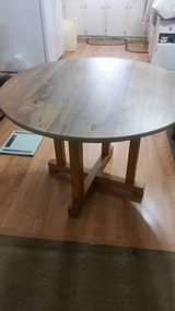 Round Wood Dining Table (no chairs) in Cleveland, Texas