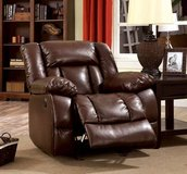 New! Brown Power Assist Bonded Leather Chair Recliner FREE DELIVERY in Camp Pendleton, California