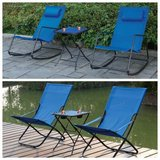 New! Pair of Foldable or Rocking Outdoor Patio Chairs starting... in Camp Pendleton, California