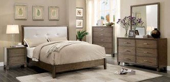 New California King Padded Leatherette Platform Bed  FREE DELIVERY in Camp Pendleton, California