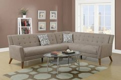 New Sand Velveteen Fabric Sectional Sofa  FREE DELIVERY in Camp Pendleton, California