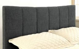 New! QUEEN Ennis GRAY Linen Padded Bed Frame FREE DELIVERY in Camp Pendleton, California
