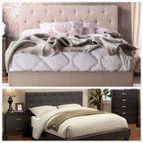New King or California Tufted Bed Frame FREE DELIVERY in Camp Pendleton, California