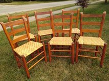 Six Smaller Shaker Ladder Back Chairs in Joliet, Illinois