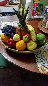 Retro Ceramic Fruit Basket Centerpiece in Cleveland, Texas