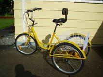 Trike, adult, yellow in Fort Lewis, Washington