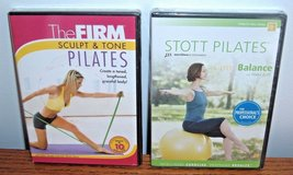 NEW Lot of 2 Pilates The Firm Sculpt Tone Stott Core Balance Exercise DVDs in Chicago, Illinois