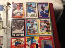 Ken Griffey Jr Baseball Card Lot Over 85 w rookie in album and sheets in Fort Campbell, Kentucky
