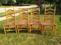 Four Ladder Back Shaker Chairs in Lockport, Illinois
