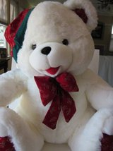 Large White Stuffed Christmas Bear in Palatine, Illinois
