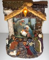 Vintage Motorized Musical Snow Globe Christmas Nativity Jesus Mary Joseph in Lockport, Illinois
