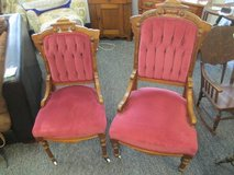 Beautiful Set of Antique Eastlake Parlor Chairs - Delivery Available in Fort Lewis, Washington