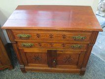 Beautiful Antique Eastlake Spoon Carved Commode Cabinet - Delivery Ava in Tacoma, Washington
