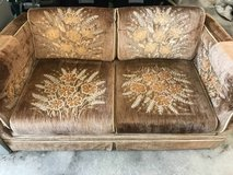 Tan Love Seat Couch in Camp Lejeune, North Carolina