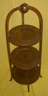 Vintage 3-Tier Wood Display Stand in Bartlett, Illinois