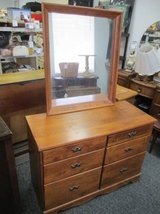 Very Nice Solid Wood Dresser and Mirror - Delivery Available in Tacoma, Washington