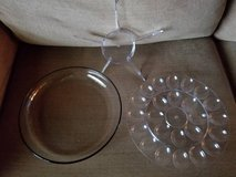 New large glass bottom appetizer 3 piece tray in Camp Pendleton, California