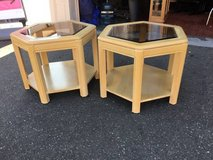 Set of Two Bleached Oak End Tables - Delivery Available in Tacoma, Washington