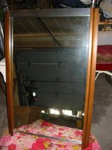 Vintage 1970s Teak Mirror Danish Modern Very large heavy in Colorado Springs, Colorado